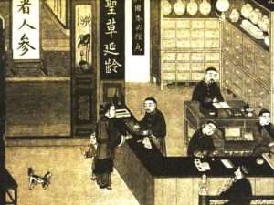 Chinese Pharmacy Painting
